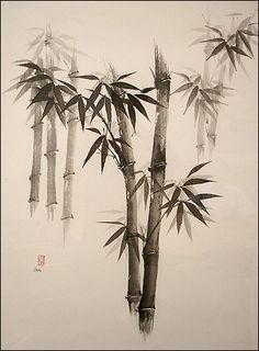Ink Art Bamboo | When done right, the sumi-e art lifts my spirits and calms my heart. I ...