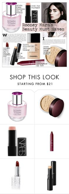 """Rooney Mara's Beauty Must Haves"" by martso ❤ liked on Polyvore featuring beauty, Calvin Klein, Laura Mercier, Chanel, NARS Cosmetics, Elizabeth Arden, Clé de Peau Beauté, MustHave, Beauty and inspiration"