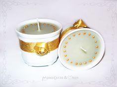 Tassenkerze / Cup candle:GOLDEN ROSES...  wanna buy something like this? visit my shop: http://de.dawanda.com/shop/Mondcatze ...or contact me : Mondcatze@fantasymail.de