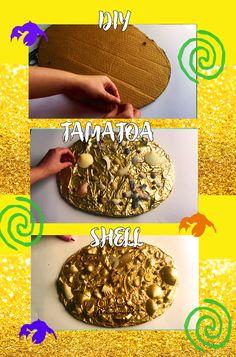 DIY easy and cheap Tamatoa shell for Halloween or Moana themed birthday party!