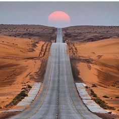 Scenic Road in the Desert by @talal_alyahya