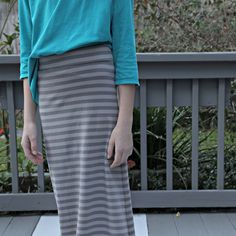 Easy serger maxi skirt project tutorial!