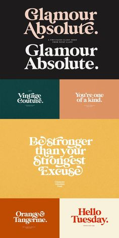 Glamour Absolute Vintage Font by Nicky Laatz - Vintage typography and font for designers, creative retro vintage type. Vintage typography and font - Vintage Typography, Typography Letters, Typography Logo, Typography Design, Vintage Branding, Modern Typography, Hand Lettering, Font Alphabet, Lettering Styles