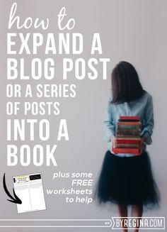 If you want to expand a blog post into a book (or perhaps turn a blog series into a book), this post and free worksheet takes you through key steps.