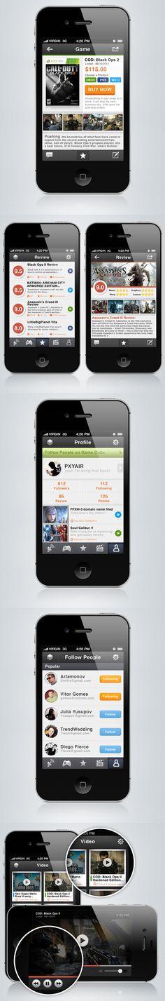 Game Cube - iPhone App by PXYAIR , via Behance