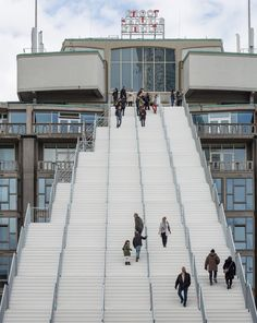 MVRDV completes The Stairs, a giant scaffolding staircase in Rotterdam city centre