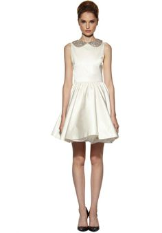 LOLLIE COLLAR DRESS in CREAM by Alice + Olivia - My god this is cute!