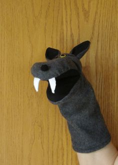 Big Bad Wolf hand puppet and Three Little Pigs by puppetsbymargie