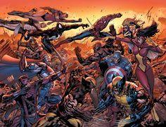 New Avengers vs Dark Avengers•Billy Tan