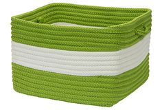 "18"" Rope Walk Basket, Lime on OneKingsLane.com"