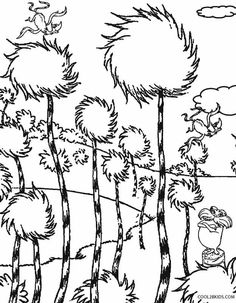 lorax coloring pages to print Free Printable Lorax Coloring Pages