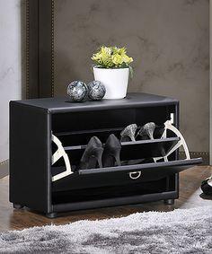 Look at this #zulilyfind! Black One-Tier Upholstered Shoe Cabinet by Baxton Studio #zulilyfinds