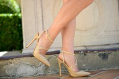 Michael Kors nude ankle strap pointy heels.
