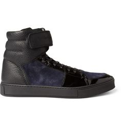 Yves Saint Laurent Leather and Suede Sneakers | MR PORTER