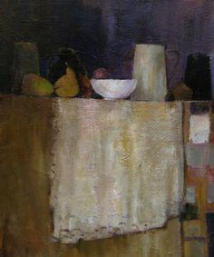 """""""La nappe de dentelle""""-Bénédicte Garnier-Fihey-Oil on canvas"""