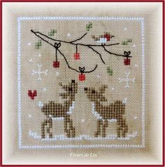 Christmas deer (she has lovely charts for sale)