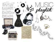"""Music is Life"" by caseyu16 ❤ liked on Polyvore featuring Dot & Bo, Benzara, Panasonic, Allurez, Art Classics, Crosley Radio & Furniture, Topshop, women's clothing, women and female"