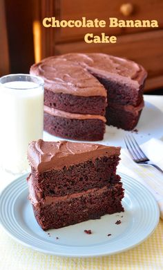 *need to look up recipe-- sounds like it should be a moist cake.  Chocolate Banana Cake - a terrific recipe to use up those speckled, over ripe bananas in a moist, delicious dessert cake.