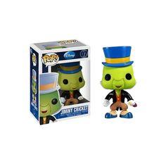 Figura Pop! Disney - Pinocho: Pepito Grillo ¡Si le necesitas... dale un silbidito... dale un silbidito y raudo acudirá!. Pepito Grillo, la inseparable conciencia de Pinocho. De la estupenda película de Disney a tu estantería gracias a Funko.