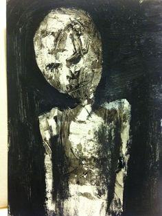 """VACANT""  abstract,   original art,ACEO  jack larson 3.5""x2.5"" #Abstract"