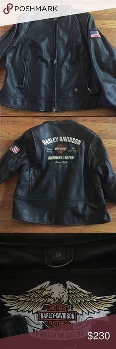 Women's Harley-Davidson Leather jacket Plus Size Like new, size women's Size 1W which is like a women's 1X if you are unfamiliar with harley sizing.   If you'd like measurements please ask!! Harley-Davidson Jackets & Coats