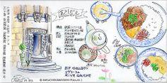 2014_02_20_sibakawai_01_s 大阪の芝川ビル。  my lunch! Vietnamese cuisine.  for this drawing I used: Faber castell polychromos Midori traveler's notebook pigma  © Belta(WAKABAYASHI Mayumi )