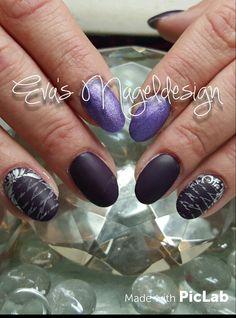 Violet matt look