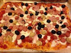#pizza #mamma #olive #carciofi #prosciutto