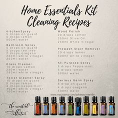 Essential collective - Home Essentials Kit Cleaning Recipes - Doterra essential oils