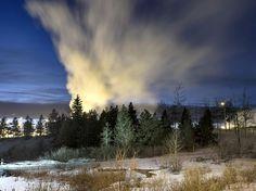 Dans la région de Fort McMurray, dans l'Alberta, au Canada. La région est le plus grand chantier d'extraction pétrolière au monde.