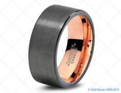 Hey, I found this really awesome Etsy listing at https://www.etsy.com/listing/220658333/black-gunmetal-tungsten-ring-rose-gold