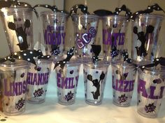 Cheerleading Personalized Tumbler 16 oz w/Straw BPA Free Cheer, Dance, Zebra, Favors on Etsy, $10.00
