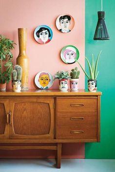 diy home decor - Earth Element Keep Clutter Under Control With Feng Shui Feng Shui, Estilo Kitsch, Home Interior Design, Interior Decorating, Colorful Interior Design, Interior Modern, Colorful Interiors, Living Room Decor, Bedroom Decor