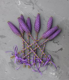 Lavender wands. I love making these.