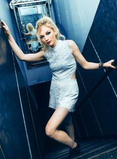 Emily Kinney photographed by Chad Kamenshine at Highline Ballroom in New York City on October 1,2015