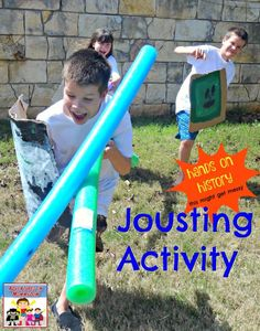 Jousting Activity for King Arthur Unit, would also be great for middle ages unit, or for learning about King Henry VIII who loved jousting