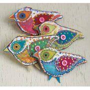 Bird patchwork purse
