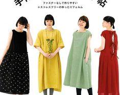 Hecho a mano una sola pieza vestido libro - vestido japonés patrón