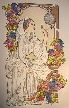 Resultado de imagen de art nouveau leia