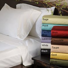 @Overstock - Sleep in luxury with this set of 600-thread-count solid sheets made of 100-percent cotton. The fitted sheet is fully elasticized and has 16-inch-deep pockets. These solid-colored Corsica sheet sets will elegantly enhance any bedroom setting.http://www.overstock.com/Bedding-Bath/Corsica-Cotton-600-Thread-Count-Sheet-Set/6298037/product.html?CID=214117 $54.99