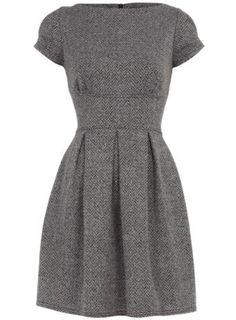 grey dress.
