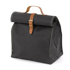 Uashmama Paper Lunch Bag in Black