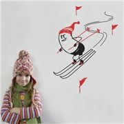 """Bring the ski spirit to your home design with a Skiing Wally decorative wall decals. This removable wall sticker is part of the """"Wally - Your Wall Buddy"""" series and features Wally Skiing on your walls. Ski Decor, Kids Room Murals, Removable Wall Stickers, Building A New Home, Wall Decals, Wall Art, Lamp Shades, Dream Bedroom, Aldo"""