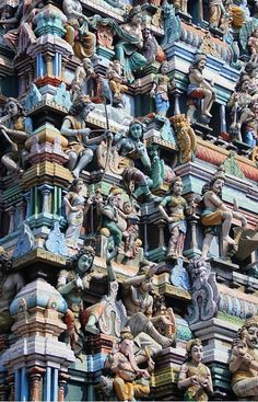 A detail from the Hindu Temple Katiresan Kovil in Colombo Sri Lanka Colombo Sri Lanka: practical mini-guide