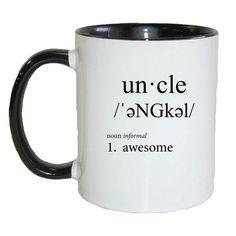 Uncle *** Defined*** Coffee Cup/Tea Mug. A Fat Doxie Design. (DOX32BLK)