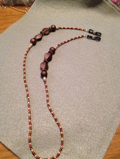 Brown eyeglass holder.