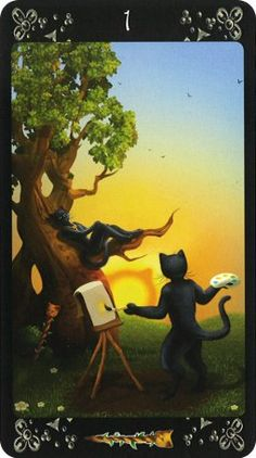 Black Cats Tarot - Ace of Wands