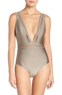 afa5e7ca20704 Ted Baker London Plunge One Piece Swimsuit Plunging One Piece Swimsuit,  Women's One Piece Swimsuits