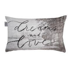 Ariadne at Home Dreams and Love Sierkussen 30x50 cm - Grijs