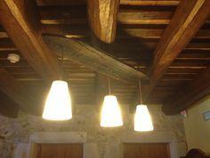 Tabla madera y 3 luces